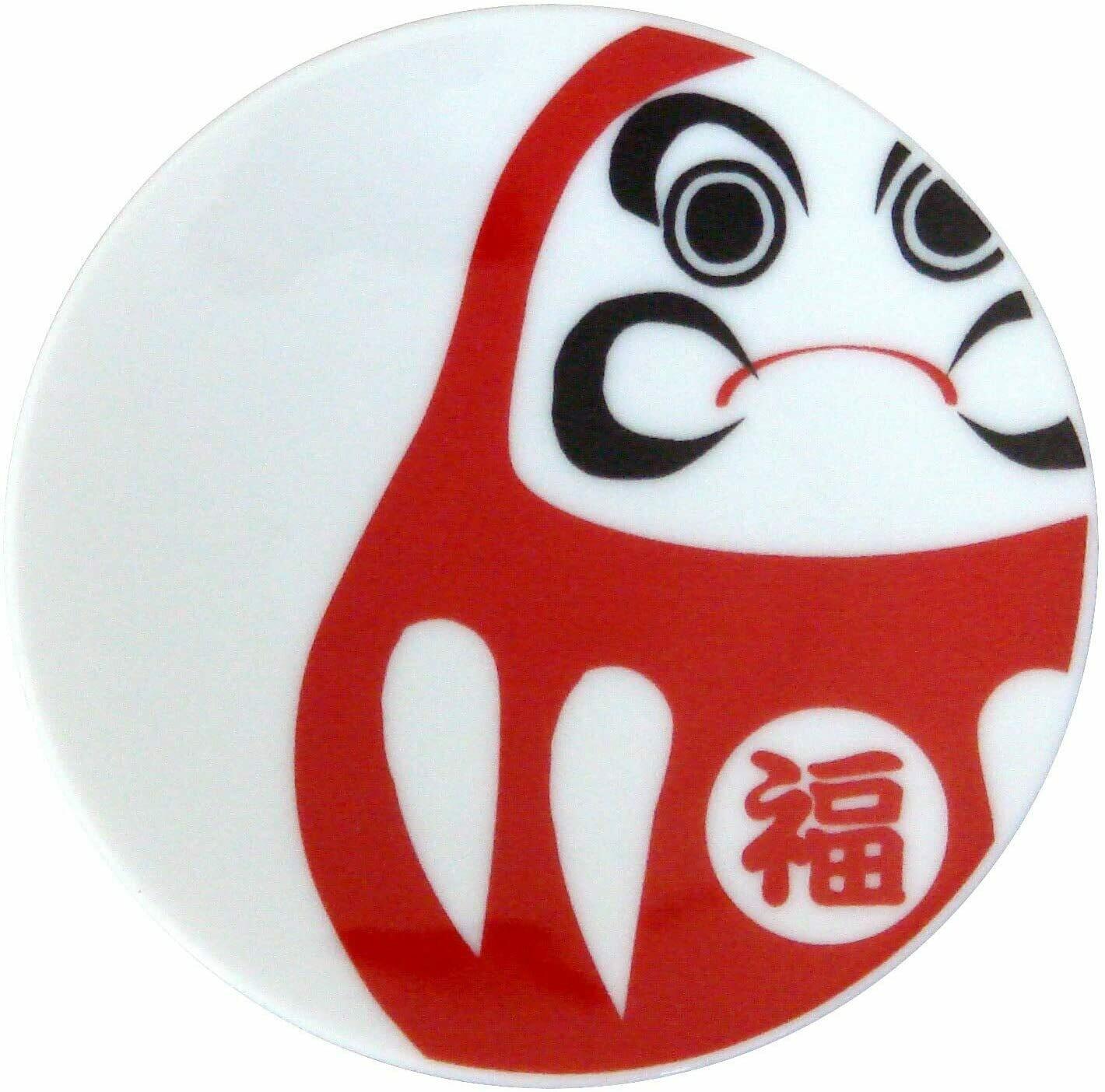 Small Plate Daruma White - 21712