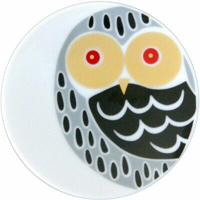 Small Plate Owl White - 21715