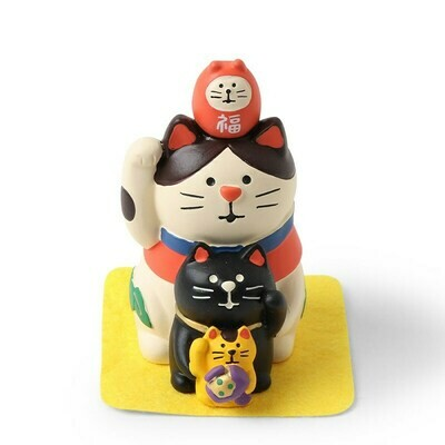 Figurine Fortune Cat Stack - ZCB-61264