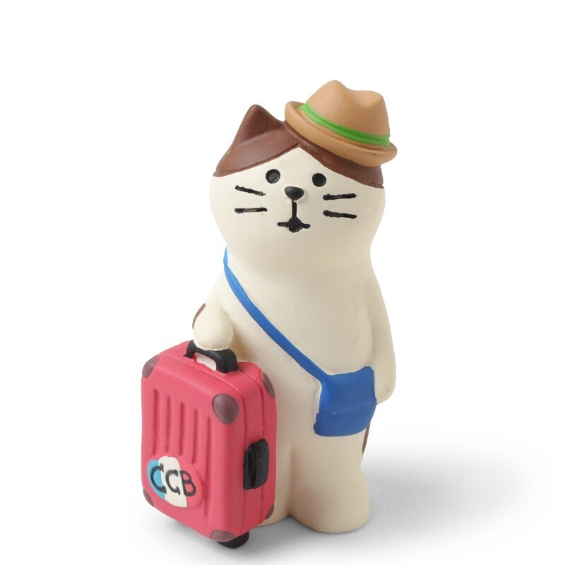 Figurine Traveling Cat - ZCB-59710