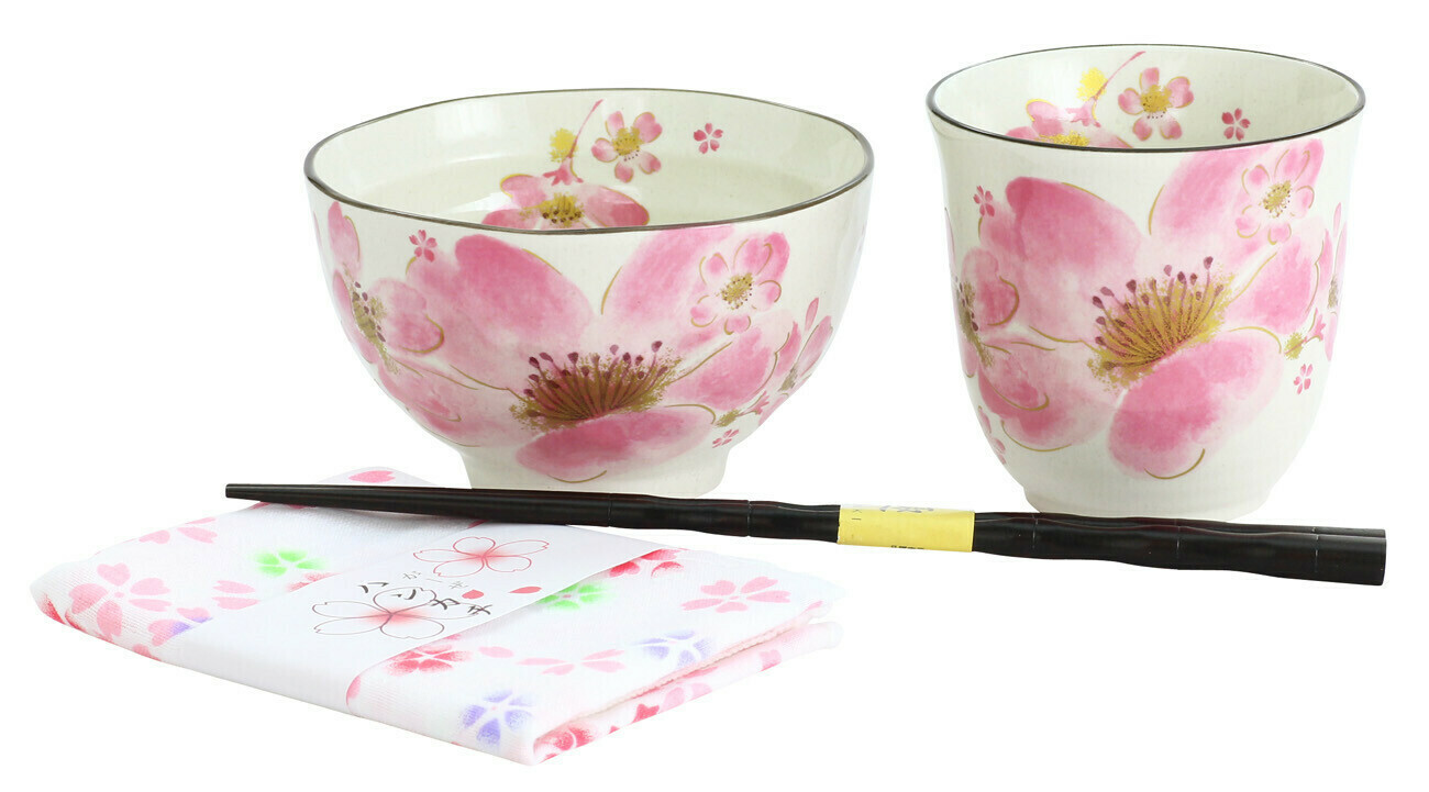 T-Cup/Bwl/C-Stk/Textile Beautiful Sakura Bloom 180-200
