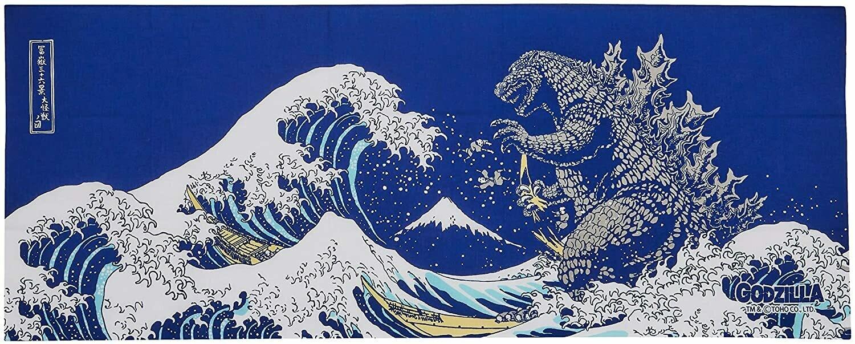 Tenugui - Wave/Fuji/Godzilla