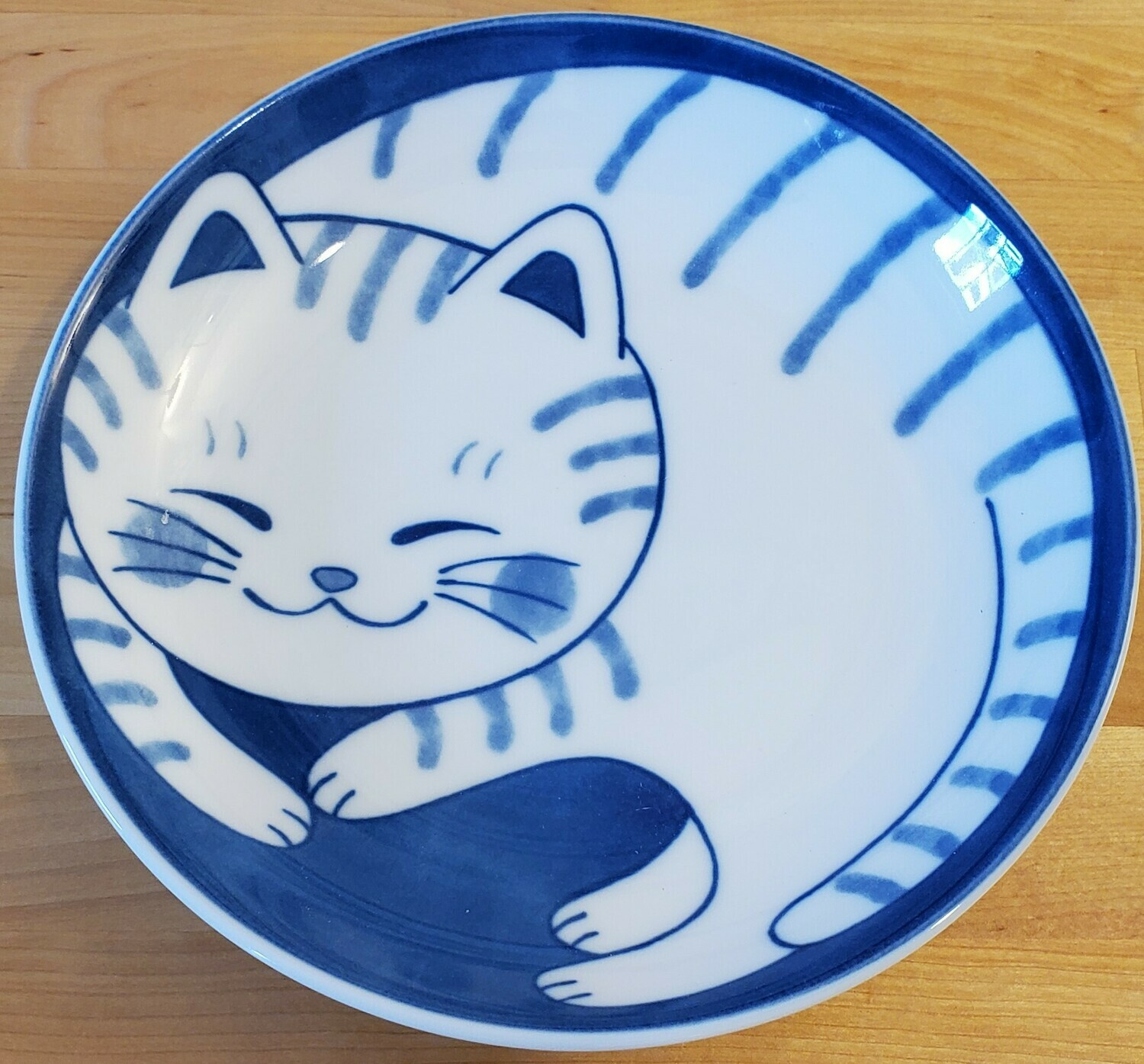 Plate Affectionate Tabby Cat 161-647