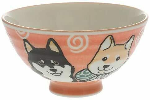 Bowl Rice Red Shiba 130-231