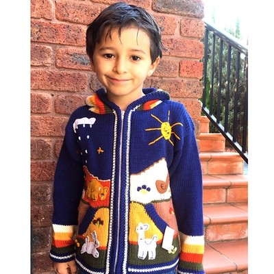 Peruvian Embroidered Cardigans 5-6yrs