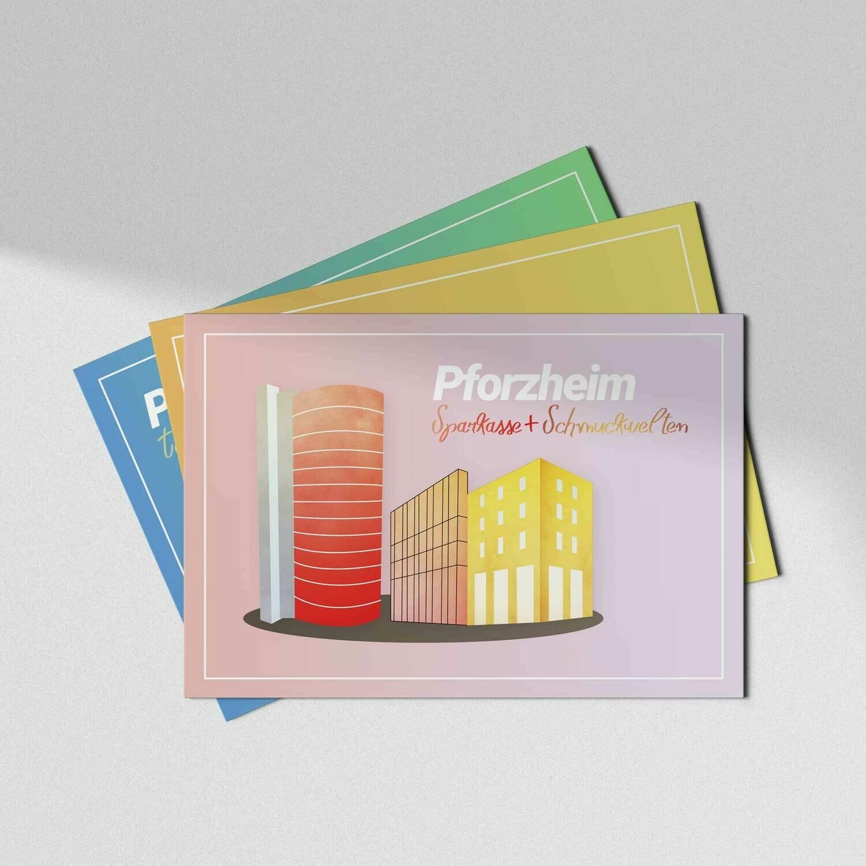 Pforzheim Postkarte [3er Set]