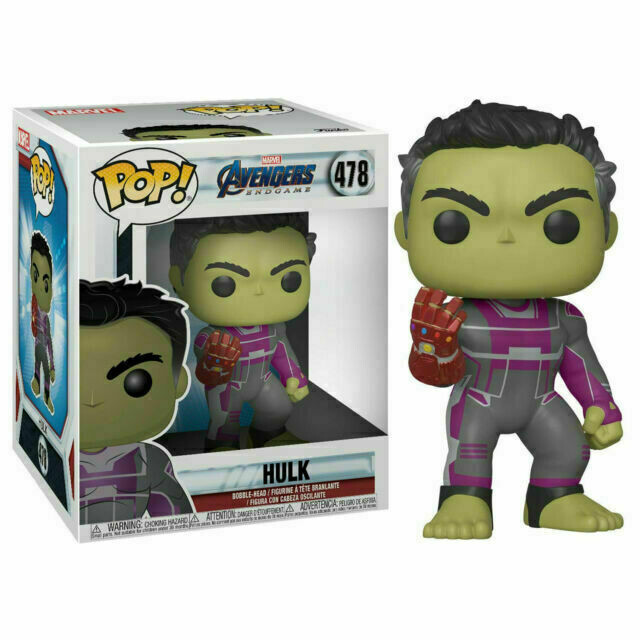 "Funko Pop! Hulk con guantelete del infinito 6"" - Avengers Endgame (Marvel)"