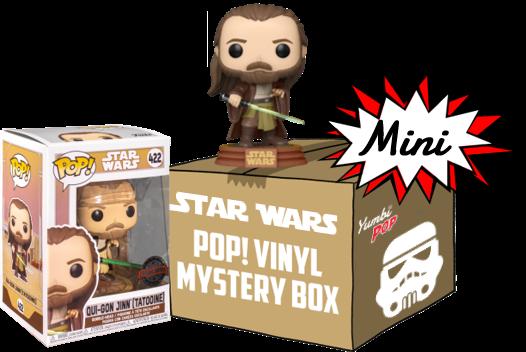 Funko Pop! Mini-Yumbi Mystery Box - Qui-Gon Jinn + 2 POP! Star Wars