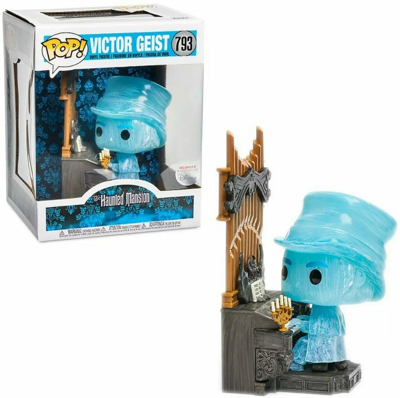 Funko Pop! Victor Geist Fantasma con organo (Exclusivo) - La Mansion Encantada (Disney)