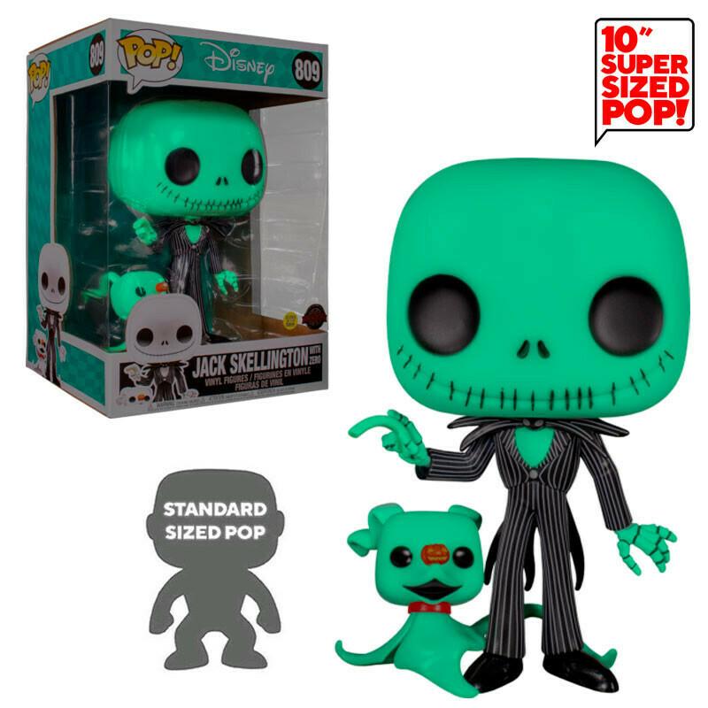 Super Sized Pop! Jack con zero 10'' (GITD) - Pesadilla antes de Navidad (Disney)