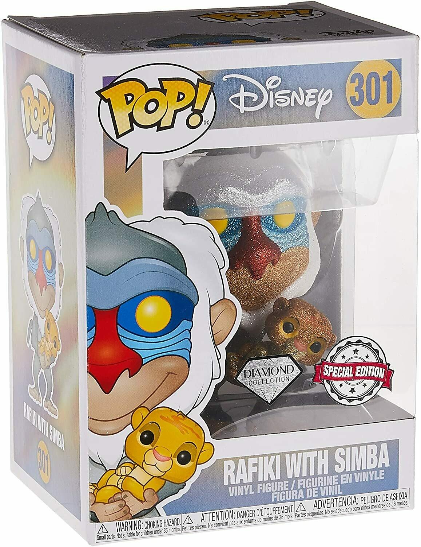 Funko Pop! Rafiki with Simba (Diamond) - El Rey Leon (Disney)