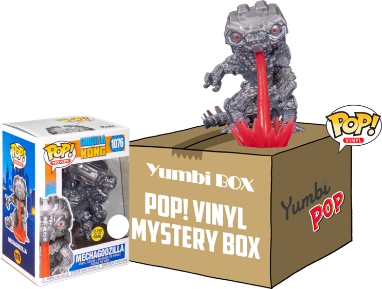 Yumbi Mystery Box Mechagodzilla GITD + 5 Pops! Aleatorios