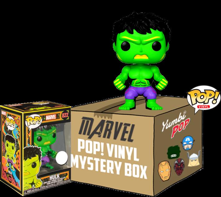 Yumbi Mystery Box Hulk Black Light + 5 Pops! Marvel