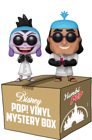 Yumbi Mystery Box - Yzma y Kronk (Wondrous Convention 2021) + 5 Pops! Disney
