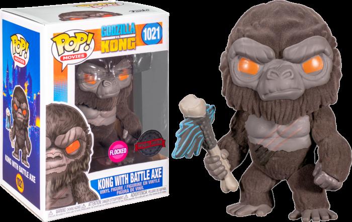 Funko Pop! Kong with Battle Axe (Flocked) - Godzilla vs Kong