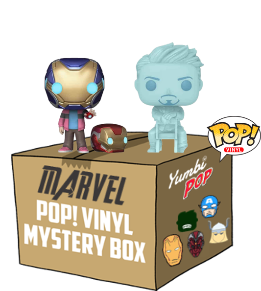 Funko Pop! Yumbi Mystery Box - Morgan Stark & Tony Stark (Glow in the Dark) - Avengers (Marvel) + 4 Pops! Marvel