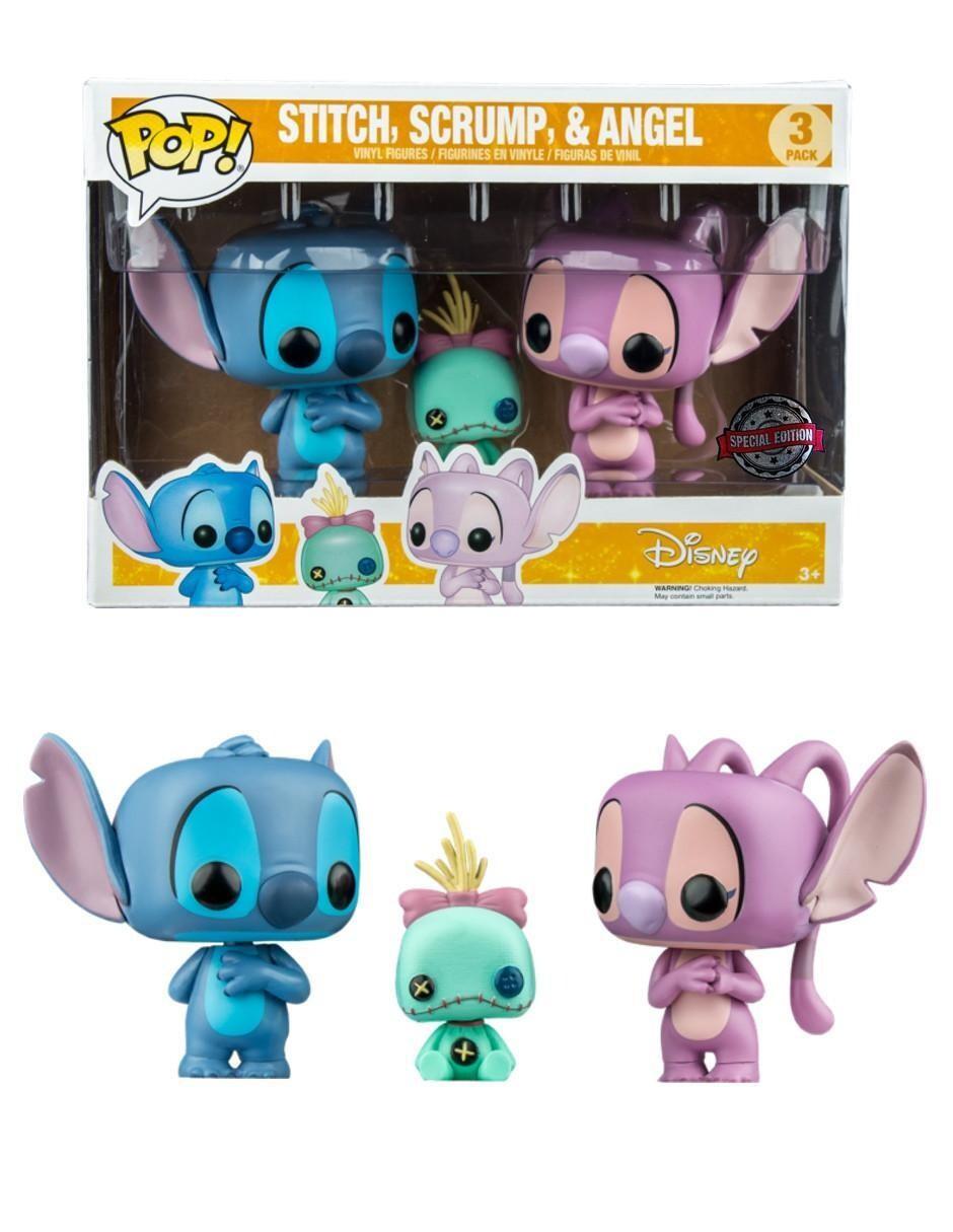 Funko Pop! 3 Pack Stitch. Scrump y Angel - Disney