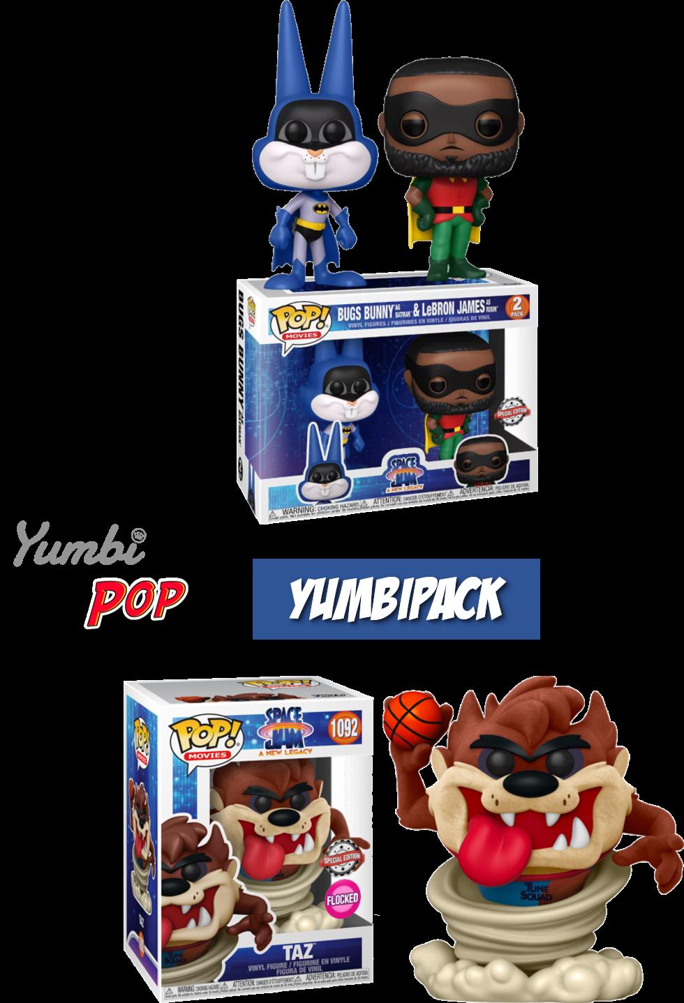 Yumbipack Funko Pop! Lebron & Bugs Bunny + Taz Flocked - Space Jam: A New Legacy