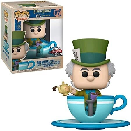 Funko Pop! Rides Mad Hatter at the mad tea party attraction