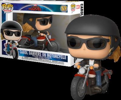 Funko Pop! Rides Carol Danvers on Motorcycle - Captain Marvel (Marvel)