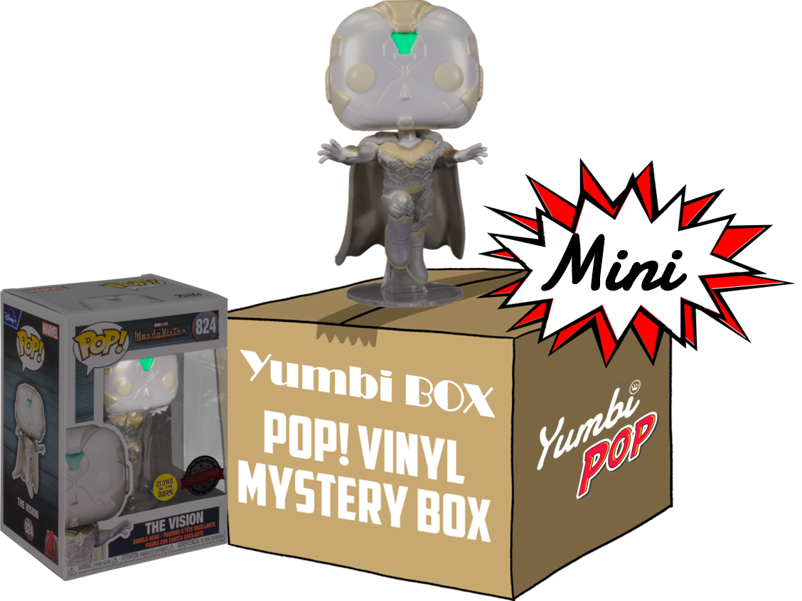 Mini-Yumbi Mystery Box Vision GITD + 2 Pops! Aleatorios