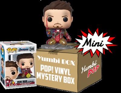 Mini-Yumbi Mystery Box I am Iron Man GITD + 2 Pops! Aleatorios