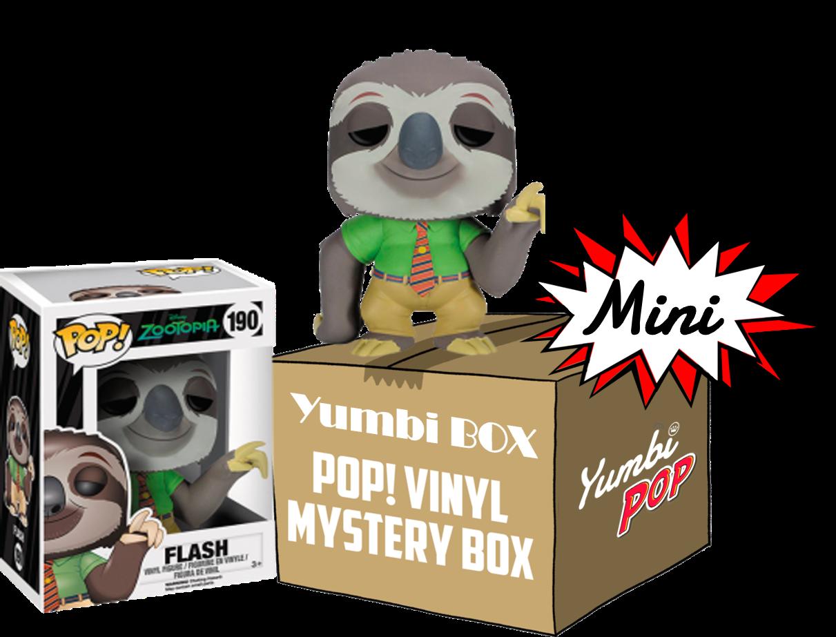 Mini-Yumbi Mystery Box Flash Zootopia + 2 Pops! Aleatorios