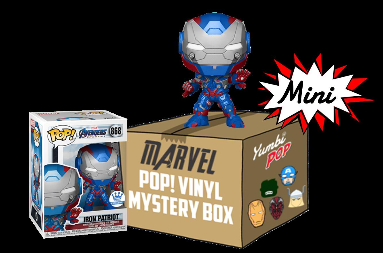 Mini Yumbi-Mystery Box Iron Patriot + 2 Pop! Marvel