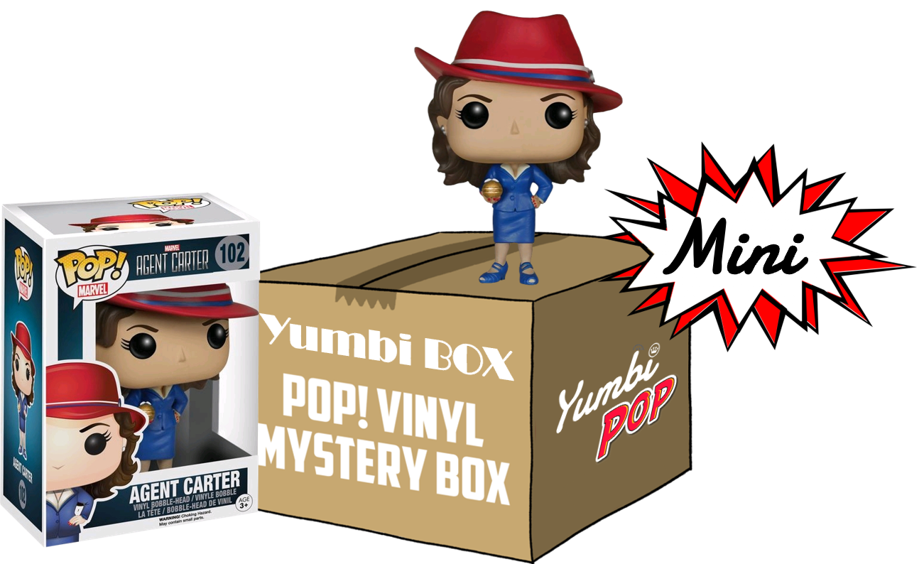 Mini Yumbi-Mystery Box Agent Carter + 2 Pop!