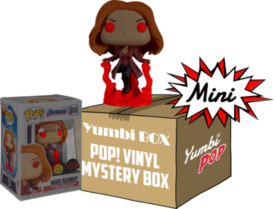 Mini Yumbi-Mystery Box Wanda Maximoff Glows in the Dark + 2 Pop!