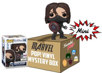Mini Yumbi-Mystery Box Winter Soldier + 2 Pop! Marvel