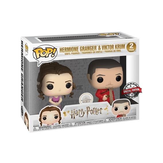 (Caja dañada) Funko Pop! 2 Pack Hermione Granger & Viktor Krum - Harry Potter