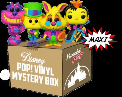 MAXI Yumbi-Mystery Box Alice in Wonderland Black Light + 5 Pop! Disney