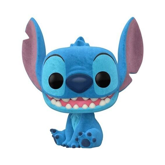 Funko Pop! Stitch Smiling Seated (Flocked) - Lilo y Stitch