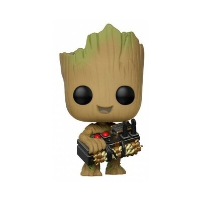 Funko Pop! Groot con Bomba - Guardianes de la Galaxia (Marvel)