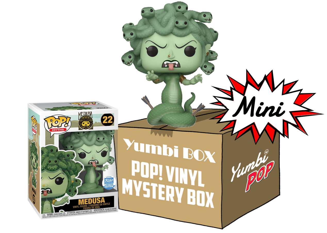 Mini Yumbi-Mystery Box Medusa (EXC) + 2 pop! aleatorios