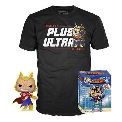 Funko Pop! All Might (GITD) + Camiseta Exclusiva - My Hero Academia