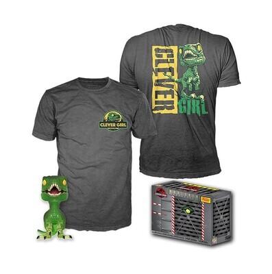 Funko Pop! Clever Girl + Camiseta Exclusiva - Jurassic Park