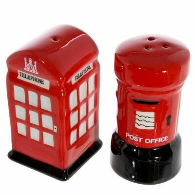 London Post And Telephone Cruet Set