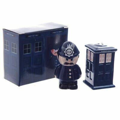 Policeman/ Call box Cruet Set