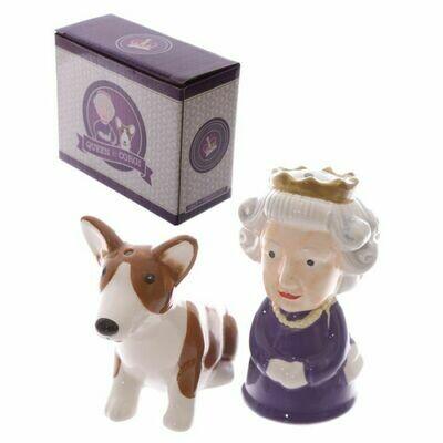 Queen And Corgi Cruet Set