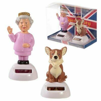 Queen And Corgi Solar Set