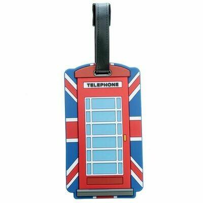 Union Jack Telephone Luggage Tag
