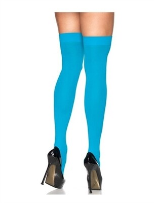 Sheer Thigh High - One Size - Turquoise