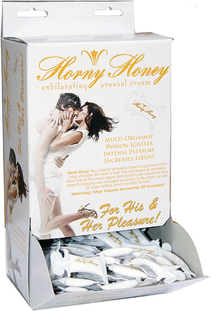 Horny Honey Stimulating Arousal Gel - 144 Piece Display - 2 Cc. Pillow Packs