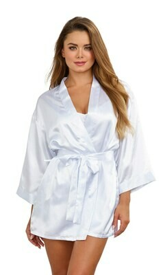 Robe, Chemise, Padded Hanger - Medium - White