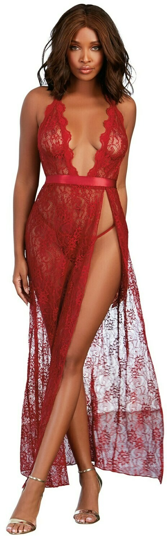 Gown, G-String - Small - Garnet