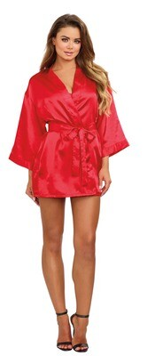 Robe, Chemise, Padded Hanger - Large - Red