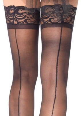 Stay Up Sheerthigh Highs - Black - One Size