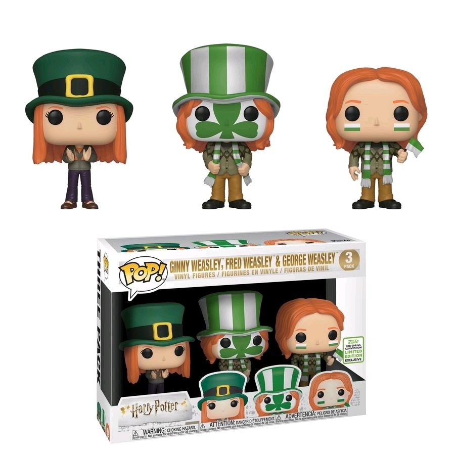 Funko Harry Potter - Ginny, Fred & George Weasley World Cup Pop! Vinyl Figure (2019 Spring Convention Exclusive)